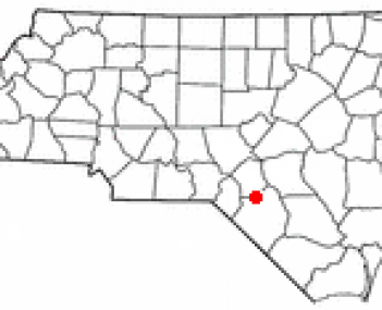 Location of Red Springs, North Carolina