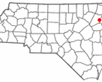 Location of Rocky Mount within North Carolina
