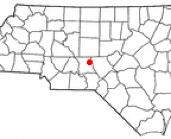 Location of Star, North Carolina