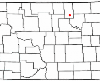 Location of Cando, North Dakota