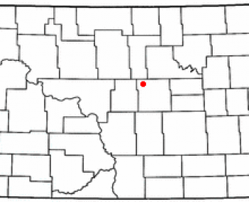 Location of Harvey, North Dakota