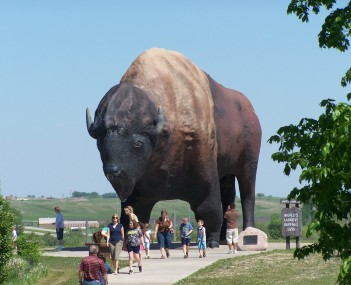 World's Largest Buffalo Monument in Jamestown