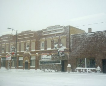 Napoleon ND - downtown snow