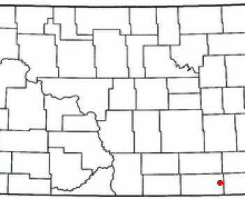 Location of Oakes, North Dakota