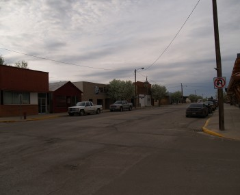 Business district of Watford City
