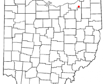 Location of Bedford in Ohio