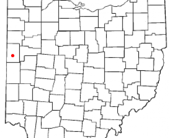 Location of Coldwater, Ohio