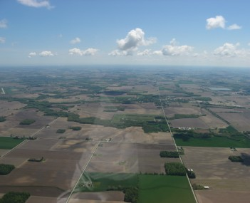Aerial view of Green Springs and the surrounding countryside