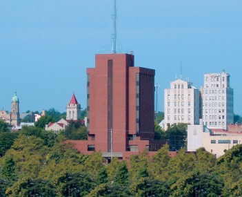 Skyline of downtown Mansfield