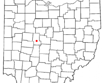 Location of Marysville, Ohio