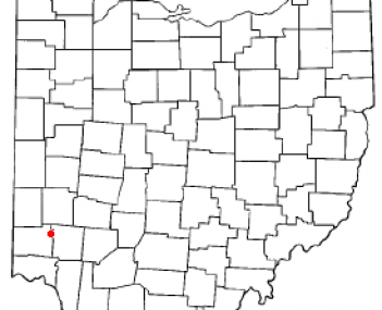 Location of Middletown, Ohio