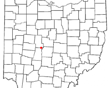 Location of Plain City, Ohio