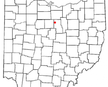 Location of Shelby, Ohio