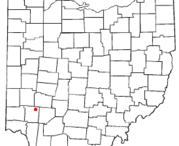 Location of Waynesville, Ohio