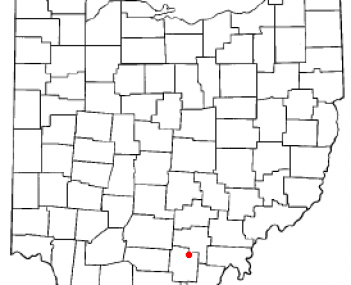 Location of Wellston, Ohio