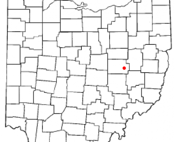 Location of West Lafayette in Coshocton County