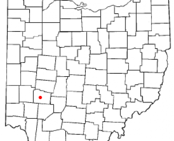 Location of Xenia, Ohio