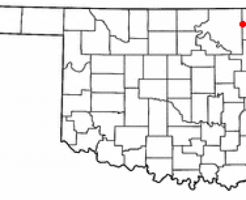 Location of Bartlesville, Oklahoma