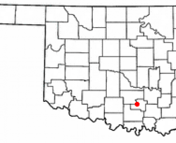 Location of Davis, Oklahoma