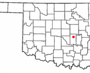 Location of Shawnee, Oklahoma