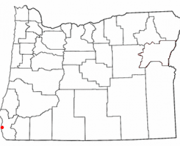 Location in Oregon