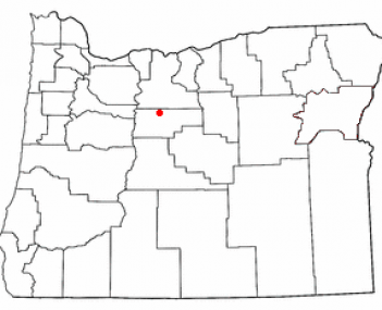 Location of Warm Springs, Oregon