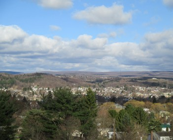 Clearfield, Pennsylvania, looking west