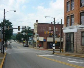 Downtown Connellsville Pennsylvania