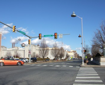Downtown Hershey at the intersection of Chocolate and Cocoa Avenues
