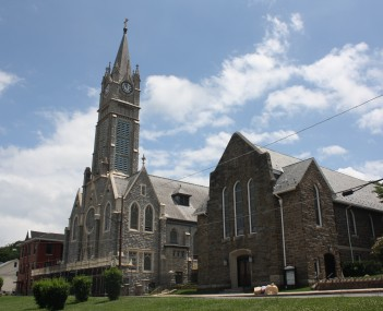 St. Katharine Drexel Church in the borough's historic district
