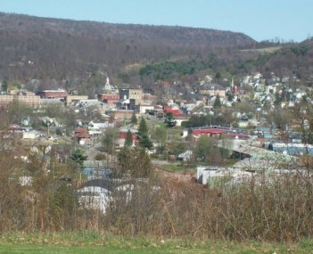 Ridgway PA from Country Club Apr 10