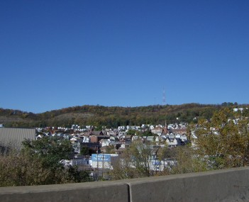 Tarentum as seen from the George D. Stuart Bridge, part of Pennsylvania Route 366