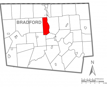 Map of Bradford County, Pennsylvania