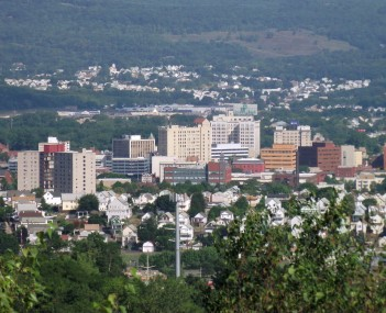 Downtown Wilkes-Barre, looking west from Giants Despair