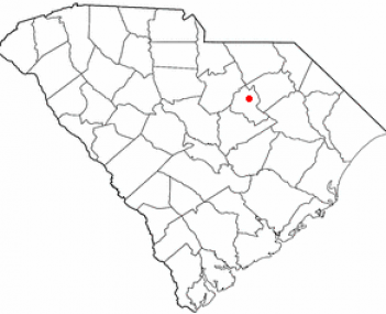 Location of Bishopville, South Carolina