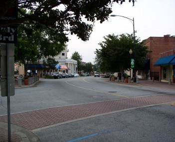 College Avenue in downtown Clemson