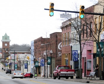 The Gaffney Commercial Historic District is listed on the National Register of Historic Places.