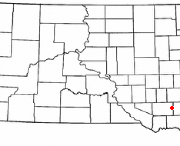 Location of Freeman, South Dakota