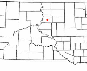Location of Gettysburg, South Dakota