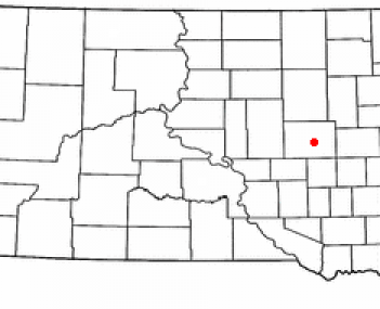 Location of Huron, South Dakota