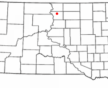 Location of Selby, South Dakota