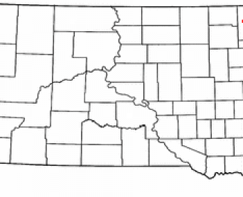 Location of Sisseton, South Dakota