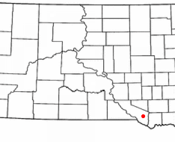 Location of Wagner, South Dakota