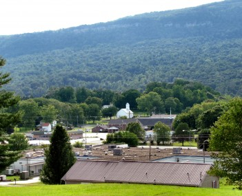 View of Whitwell with the Cumberland Plateau in the background