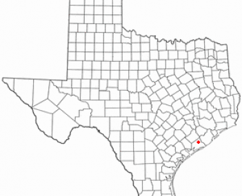 Location of Bay City, Texas