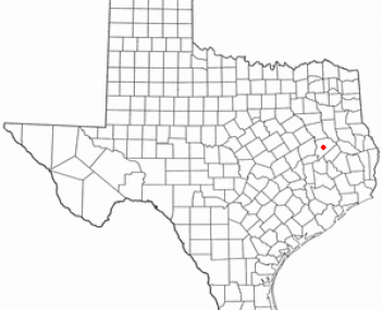 Location of Crockett, Texas