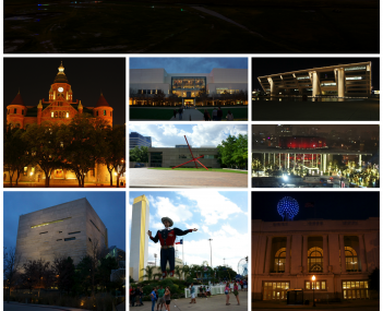 Top to bottom, left to right: Downtown Dallas skyline, Old Red Museum, NorthPark Center, Dallas City Hall, Dallas Museum of Art, Winspear Opera House, Perot Museum of Nature and Science, State Fair of Texas at Fair Park, Dallas Union Station, the Dallas A