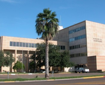 The Hidalgo County Courthouse as seen from University Drive in October 2002.