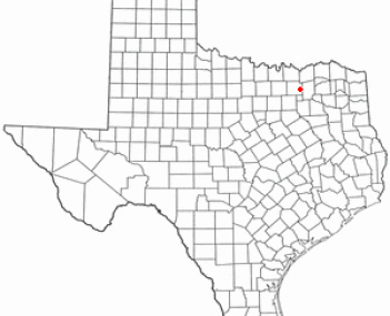 Location of Farmersville, Texas