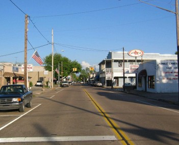 Downtown Humble facing east